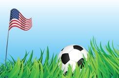 Cour de jeu du football, Etats-Unis d'Amérique Illustration Stock