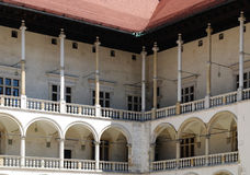 Cour de la Renaissance de château royal de Wawel Photo libre de droits