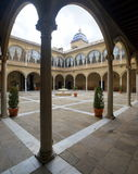 Cour de la Renaissance de Santiago Hospital Images libres de droits