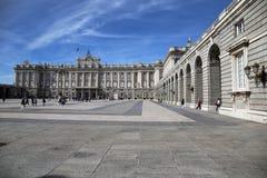 Cour de Madrid Royal Palace Photos libres de droits