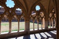Cour de monastère, gothique Photos libres de droits