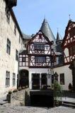 Cour de Schloss Burresheim Photo stock