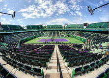 Cour de stade de centre de tennis de parc de Crandon Photos libres de droits