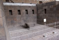 Cour de temple de Koricancha dans Cusco, Pérou images libres de droits