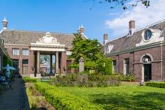 Cour de Teylershofje à Haarlem, Pays-Bas Photo stock