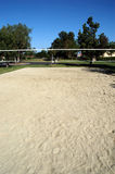 Cour de volleyball de sable Image stock