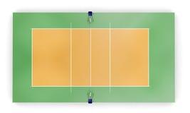 Cour de volleyball ou vue supérieure de champ illustration de vecteur