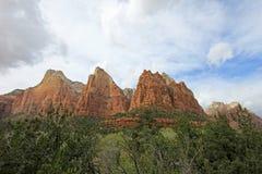 Cour des montagnes de patriarches, Zion National Park, Etats-Unis Photographie stock libre de droits