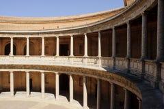 Cour du palais de Charles V, Alhambra Photos libres de droits