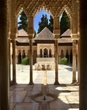 Cour en Alhambra Palace Photo stock