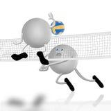 Cour et combat de volleyball illustration libre de droits
