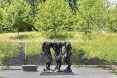 Cour extérieure Rodin Statues de Carolina Museum du nord d'art Photographie stock