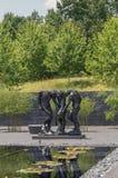 Cour extérieure Rodin Statues de Carolina Museum du nord d'art Image libre de droits