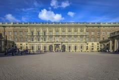 Cour externe à Royal Palace de Stockholm Photos stock