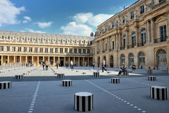 The cour inside the Royal Palace in Paris. The Royal Palace in Paris, France. It is located near the Louvre Stock Image