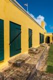 Cour intérieure de fort Christiansted dans St Croix Virgin Isl Image stock