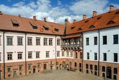 Cour intérieure de Mir Castle, Belarus Images stock
