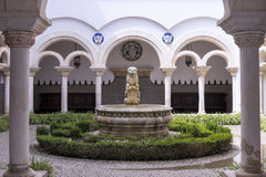 Cour intérieure de Museu Condes de Castro Guimarães, Cascais, Portugal Photos stock