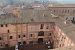 Cour intérieure de Santa Maria della Scala Sienne, Toscane, Italie Photo stock