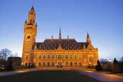 Cour internationale de Justice, la Haye, Netherl Photographie stock libre de droits
