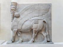 Cour Khorsabad ulga, Assyria - louvre muzeum Obrazy Stock