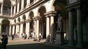 Cour Milan d'université d'art photo libre de droits