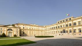 Cour occidentale de Reale de villa, Monza, Italie photo libre de droits