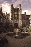 Cour Tudor Mansion, le Warwickshire de Coughton Images stock