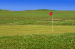 Cour verte de golf photos libres de droits