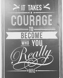 Encouraging Quotes. Courage encourage development royalty free stock photography