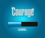 courage loading bar sign concept Stock Photography