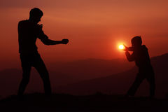 Fighting from the heart Stock Image