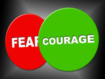 Courage Sign Means Spine Spirit And Determination Royalty Free Stock Photo
