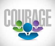 Courage team sign illustration design graphic Royalty Free Stock Photos