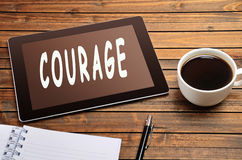 Courage word Stock Photography