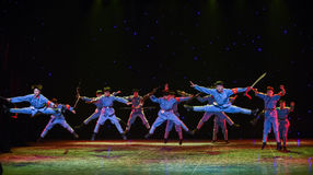 Courageously fight the enemy-The long march break-China ethnic dance Royalty Free Stock Photography