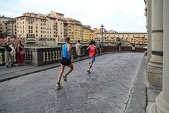 Courant à Florence, l'Italie Images stock