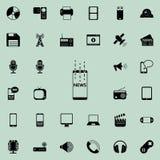 courant d'actualités dans l'icône de téléphone Ensemble détaillé d'icônes minimalistic Conception graphique de la meilleure quali illustration de vecteur