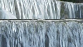 Courant d'eau de rivière entrant et fonctionnant dans la naissance d'une rivière banque de vidéos
