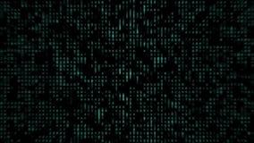 Courant de Digital des nombres verts de clignotement banque de vidéos