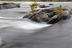 Courant de l'eau, fleuve Potomac Photo libre de droits
