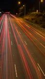 Courant de lumière rouge Photo libre de droits