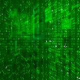 Courant de Matrix Codage de données binaires Fond de technologie de cyberespace Texture de nombres binaire Vecteur illustration libre de droits