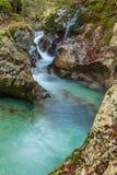 Courant de montagne dans la vallée de Lepena Image libre de droits