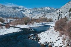 Courant de montagne en hiver image stock