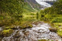 Courant en montagnes, Norvège Images stock