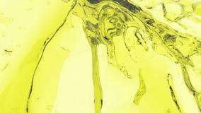 Courant liquide coloré Peignez éclabousse L'écoulement liquide vole dans l'appareil-photo jaune illustration de vecteur