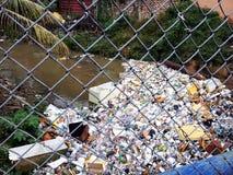 Courant pollué en Santo Domingo Photographie stock