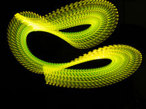 Courant vert au néon à nervures d'énergie Images libres de droits