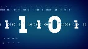 Courants binaires bleus illustration libre de droits